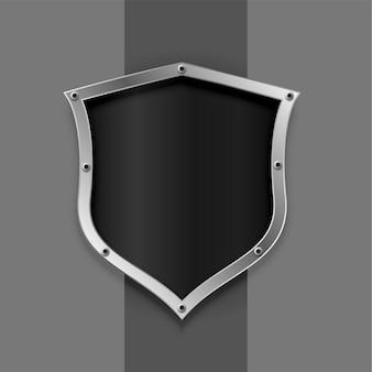 Símbolo de escudo metálico ou design de emblema