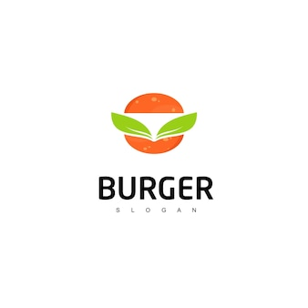 Símbolo de fast food do logotipo do hambúrguer