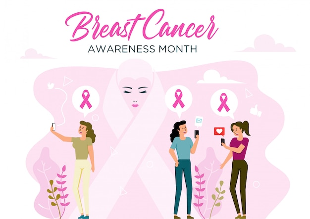 Símbolo de fita de câncer de mama