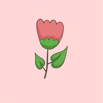 Símbolo de flores nas mídias sociais postar ilustração vetorial floral