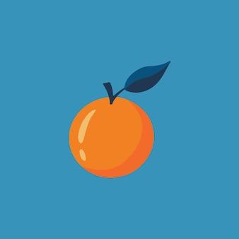 Símbolo de fruta laranja mídia social postar ilustração vetorial de comida saudável