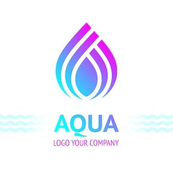 Símbolo de gota de água, ícone de modelo de logotipo para seu projeto