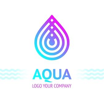Símbolo de gota de água, ícone de modelo de logotipo