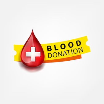 Símbolo de gota de sangue de logotipo médico