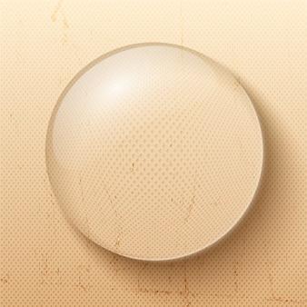 Símbolo de gota ou bolha de água para decoração e ilustração realista de negócios