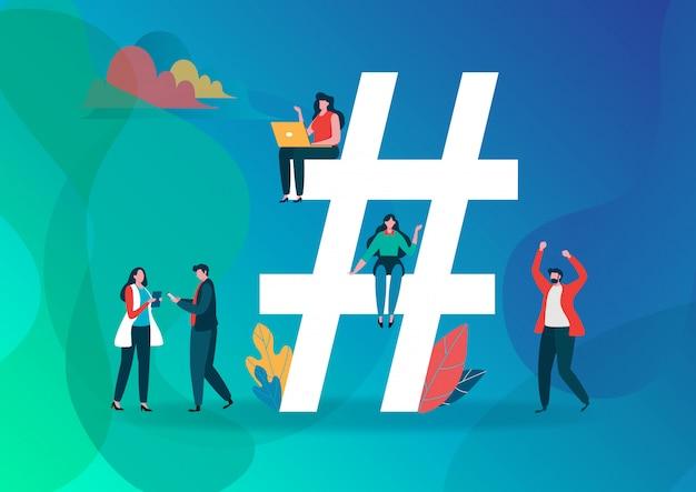 Símbolo de hashtag.
