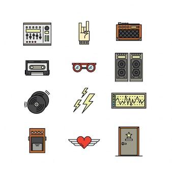 Símbolo de ícone de banda e concerto
