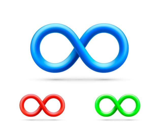 Símbolo de informação de arte infinita, coleção de conjunto de cores. ilustração vetorial