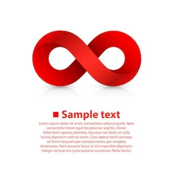 Símbolo de informações de arte do infinito. ilustração vetorial