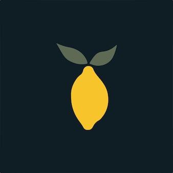 Símbolo de limão mídia social postar ilustração vetorial de frutas