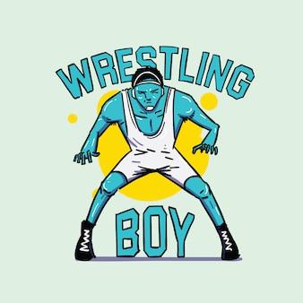 Símbolo de menino de wrestling