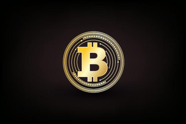 Símbolo de moeda digital bitcoin isolado