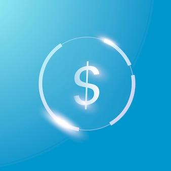 Símbolo de moeda do vetor do ícone do dólar