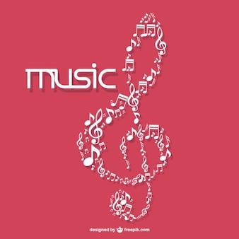 Símbolo de música do vetor