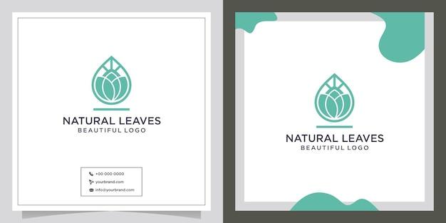 Símbolo de óleo de design de logotipo de folha natural