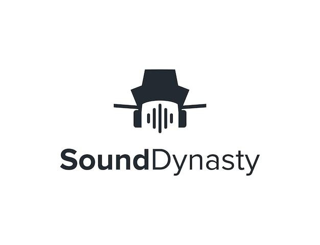 Símbolo de onda sonora e dinastia simples, elegante, criativo, geométrico, moderno, logotipo