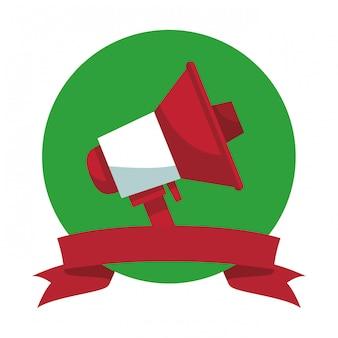 Símbolo de publicidade de megafone
