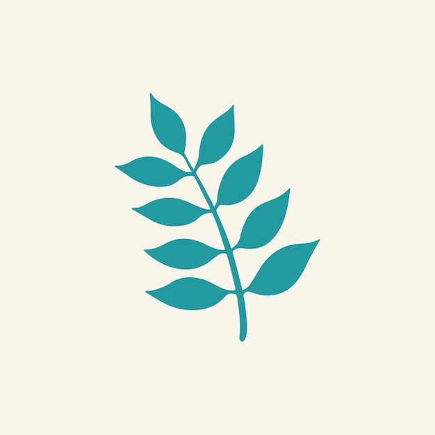 Símbolo de ramo de folha tropical mídia social postar ilustração vetorial floral