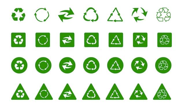 Símbolo de reciclagem de fundos ecologicamente puros