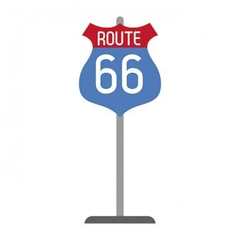 Símbolo de roadsign da rota 66