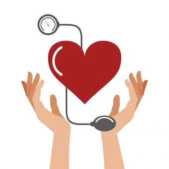 Símbolo de saúde de pressão cardíaca