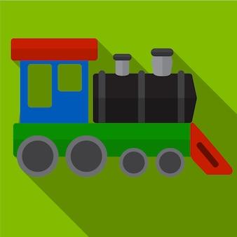 Símbolo de sinal de vetor de ilustração de ícone plano de trem