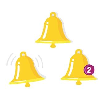 Símbolo de toque, chamada e notificação.