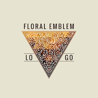 Símbolo de triângulo caligráfico ouro