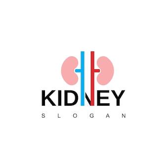Símbolo de urologia do logotipo do rim