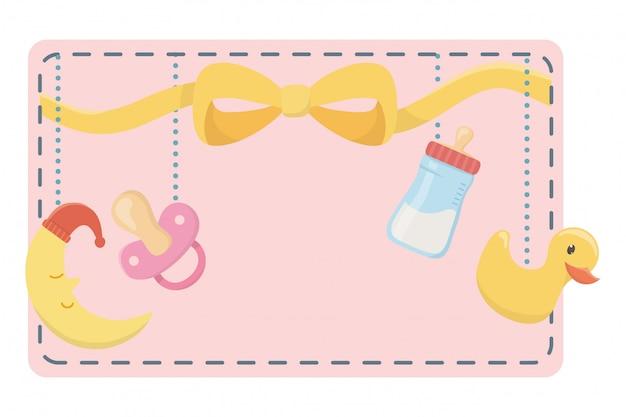 Símbolo do chuveiro de bebê