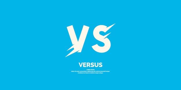 Símbolo do confronto vs ilustração vetorial moderna e emblema versus
