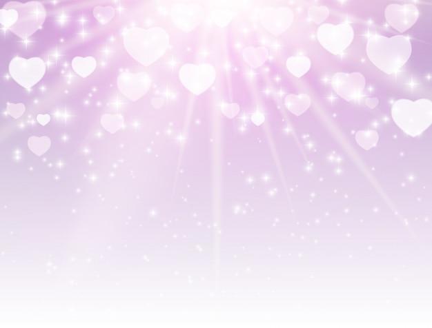 Símbolo do coração dia dos namorados. amor e sentimentos design de fundo.