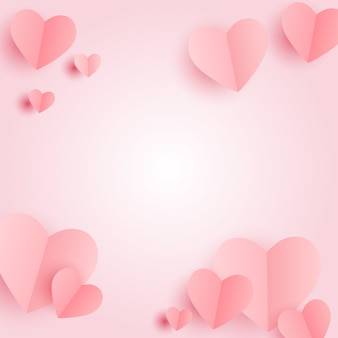 Símbolo do coração dia dos namorados. projeto do fundo de amor e sentimentos. ilustração