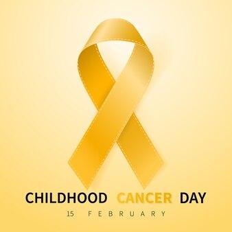 Símbolo do dia do câncer infantil em 15 de fevereiro
