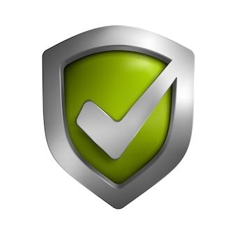 Símbolo do escudo de segurança. ilustração isolada no fundo.