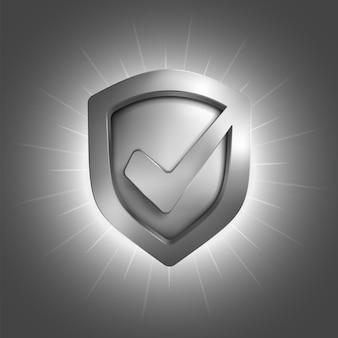 Símbolo do escudo de segurança. ilustração isolada