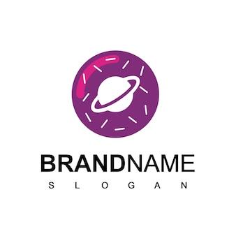 Símbolo do espaço do bolo do logotipo do donut