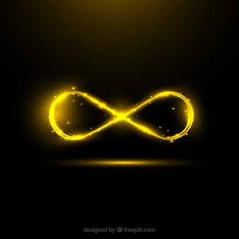 Símbolo do infinito com efeito de reflexo de lente