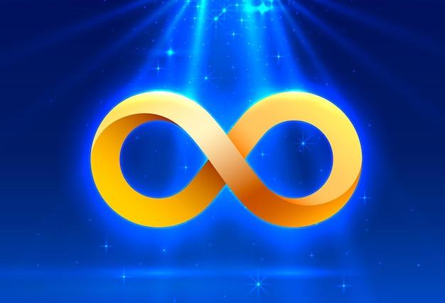 Símbolo do infinito sinal eletrônico, rede de tecnologia digital. ilustração vetorial