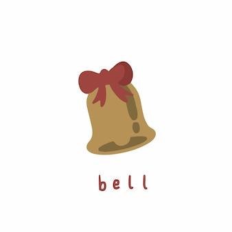 Símbolo do sino de natal nas mídias sociais postar ilustração vetorial de natal