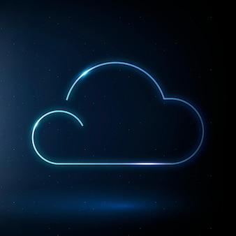 Símbolo do tempo do vetor do ícone da nuvem