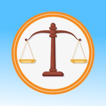 Símbolo do tribunal, escalas