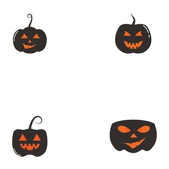 Símbolo e logotipo de horror de rosto de halloween