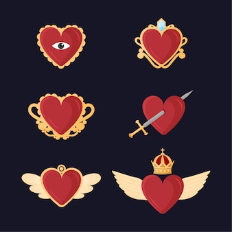 Símbolo espiritual do coração sagrado