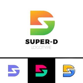 Símbolo gráfico gráfico d e s para sua empresa