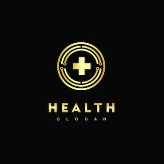 Símbolo hospitalar do logotipo de cuidados de saúde