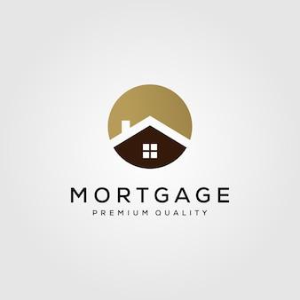 Símbolo imobiliário do logotipo de construção de casas