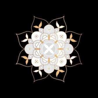 Símbolo indiano da flor da mandala oriental
