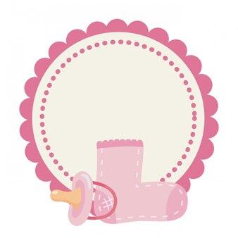 Símbolo isolado do chuveiro de bebê