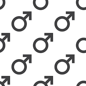 Símbolo masculino, padrão sem emenda de vetor, editável pode ser usado para planos de fundo de páginas da web, preenchimentos de padrão